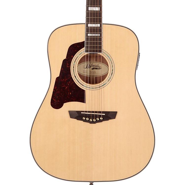 D'AngelicoLexington Dreadnought Left-Handed Acoustic-Electric GuitarNatural