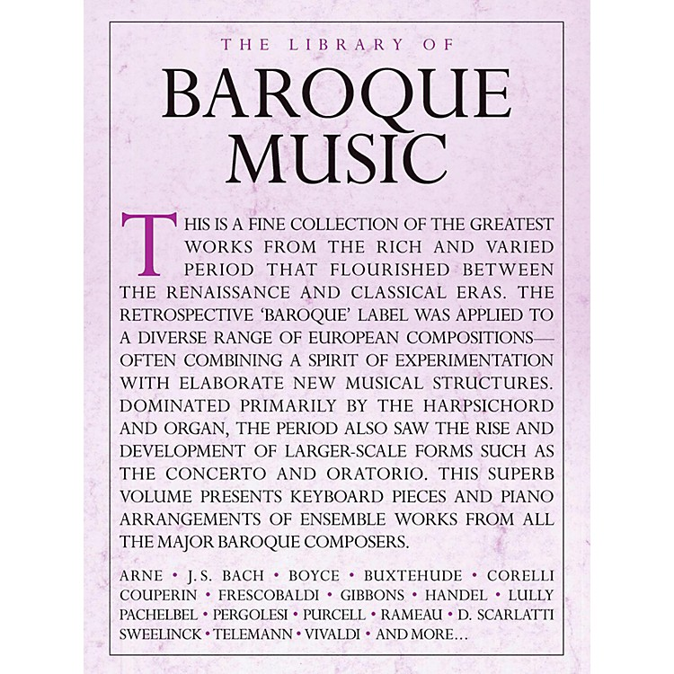 Music SalesLibrary Of Baroque Music - Piano Solo
