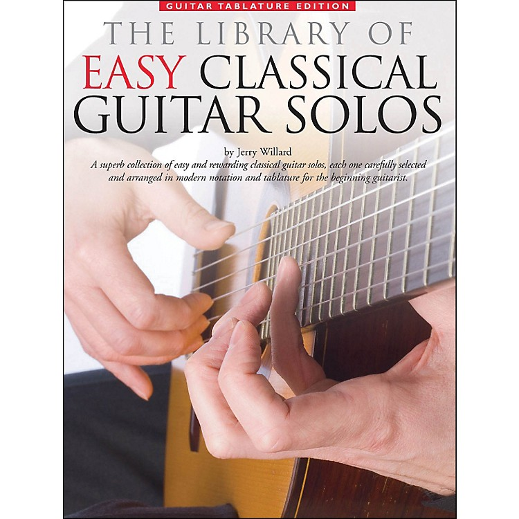Music Sales Library Of Easy Classical Guitar Solos (Notation & Tablature)