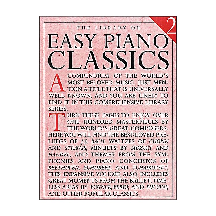 Music SalesLibrary Of Easy Piano Classics 2