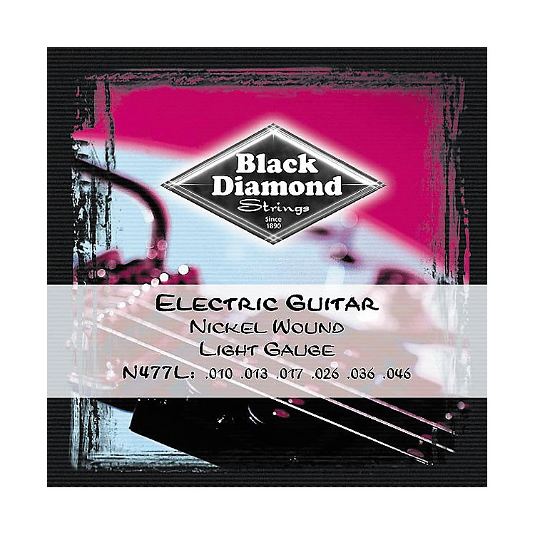 Black Diamond Light Gauge Nickel Wound Electric Guitar Strings