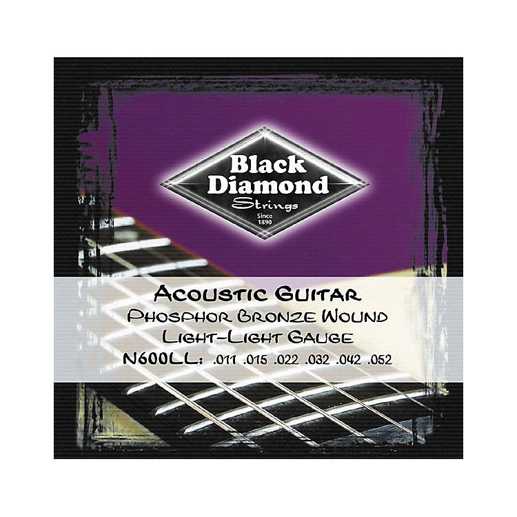 Black Diamond Light Light Gauge Phosphor Bronze Acoustic Guitar Strings
