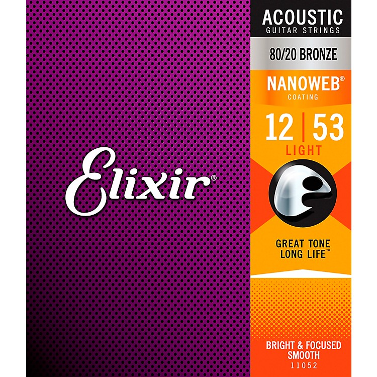 Elixir Light Nanoweb Acoustic Guitar Strings
