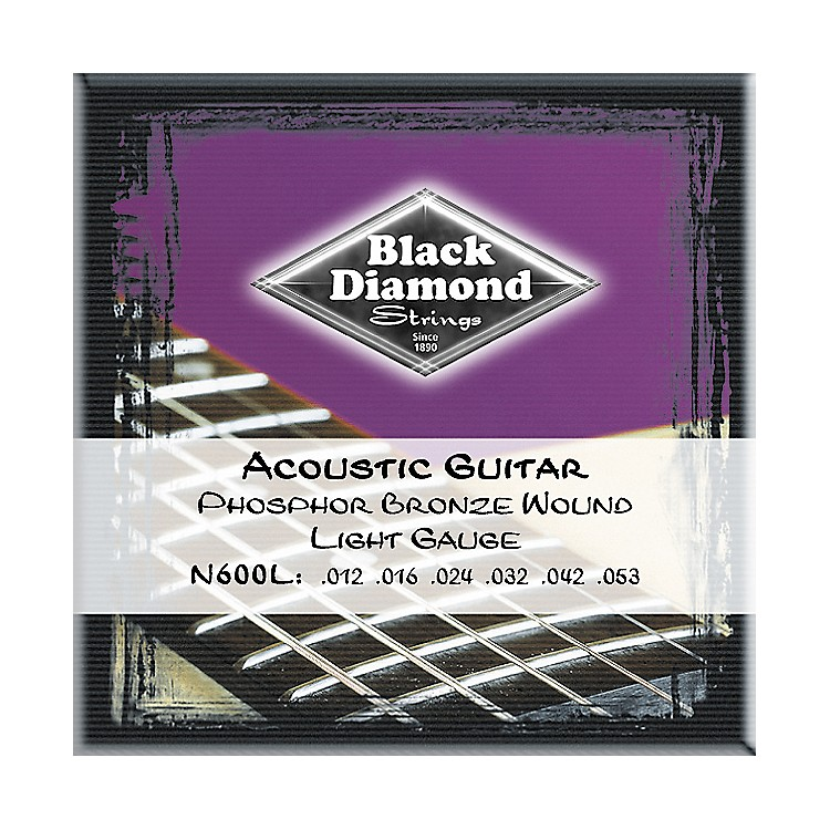 Black Diamond Light Phosphor Bronze Acoustic Guitar Strings