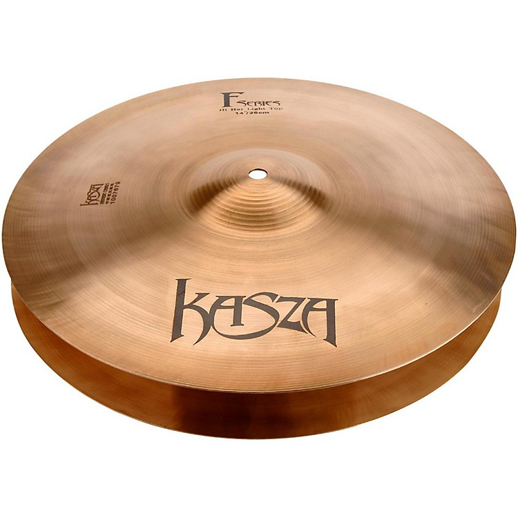 Kasza Cymbals Light Top/Medium Bottom Fusion Hi-hat Cymbals 14 in.
