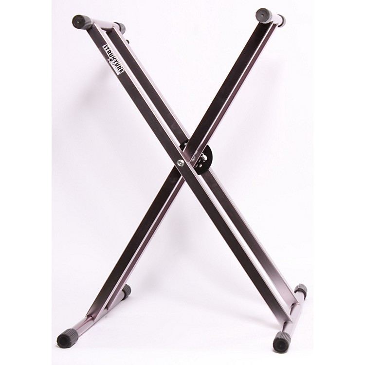 Strukture Lightweight Aluminum Keyboard Stand Anodized Silver 886830232763