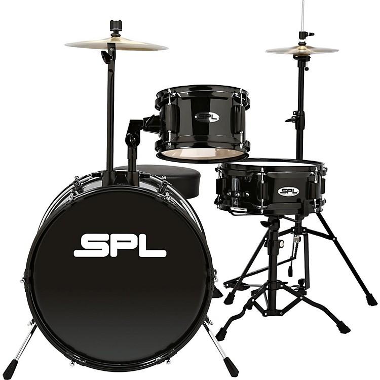 Sound Percussion LabsLil Kicker - 3 Piece Jr Drum Set with ThroneBlack