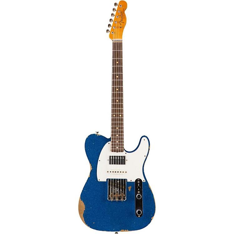Fender Custom ShopLimited Edition '60s Heavy Relic Nashville Telecaster Custom HSS Electric Guitar, RosewoodBlue Sparkle
