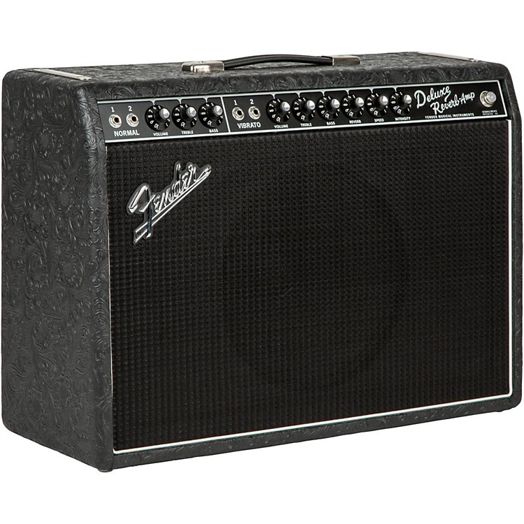 FenderLimited Edition '65 Deluxe Reverb 22W Tube Guitar Combo Amp Black Western