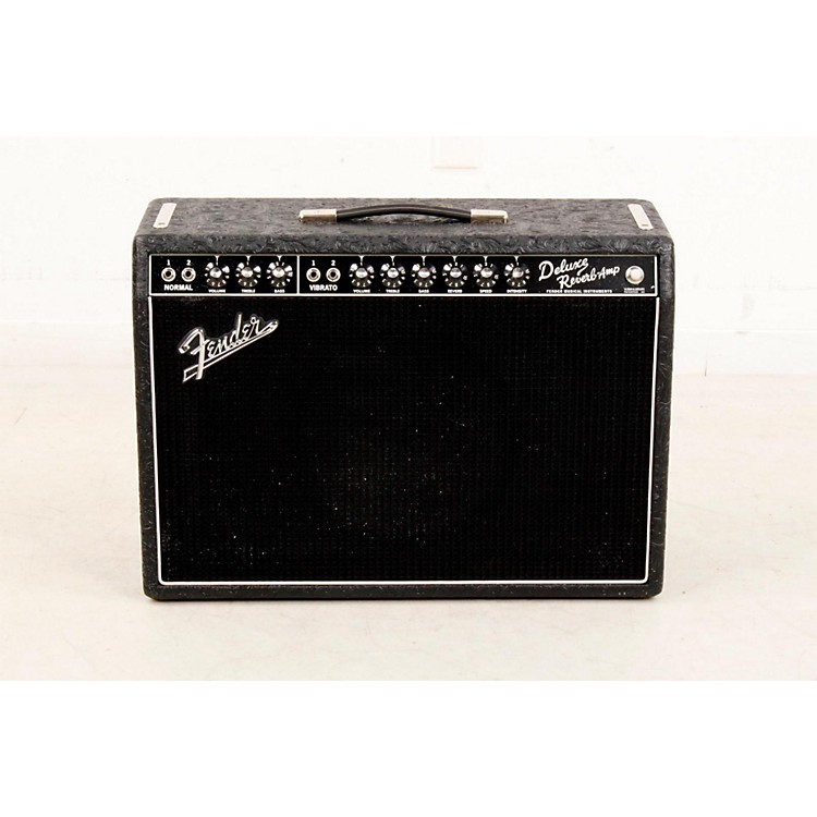 FenderLimited Edition '65 Deluxe Reverb 22W Tube Guitar Combo Amp Black Western888365709499