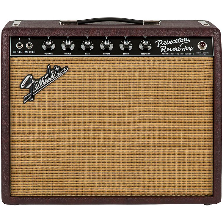 FenderLimited Edition '65 Princeton Reverb 15W 1x12 Tube Guitar Combo Amp Bordeaux Reserve