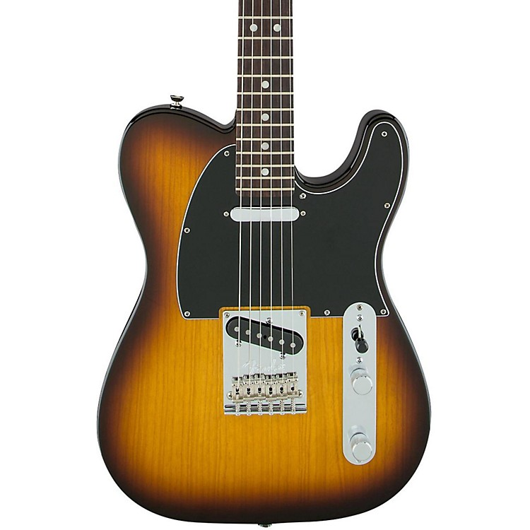 Fender Limited Edition American Standard Telecaster Ash with Figured Neck Electric Guitar Cognac Burst