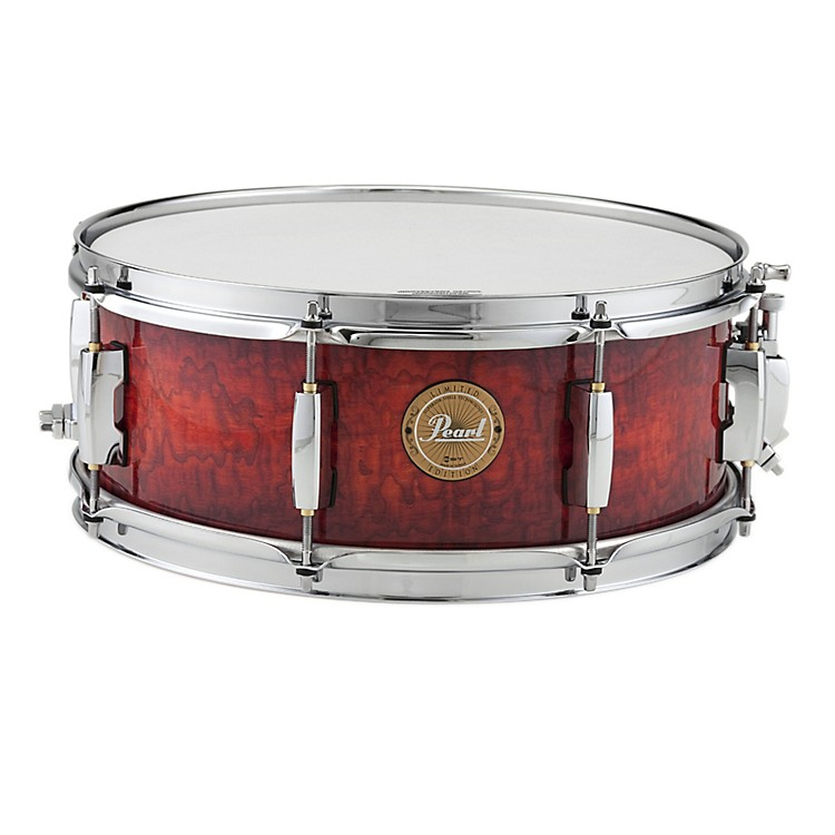 Pearl Limited Edition Artisan II Lacquer Poplar/Birch Snare Drum Burnt Ember with Chrome Hardware 14x5.5