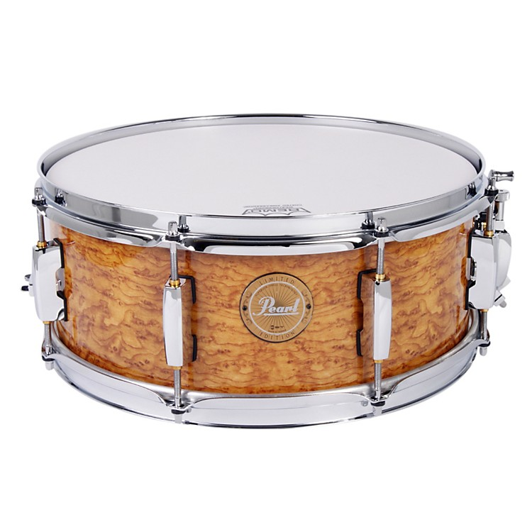 Pearl Limited-Edition Artisan II Lacquer Poplar/Maple Snare Drum Cappuccino with Chrome Hardware 14x5.5