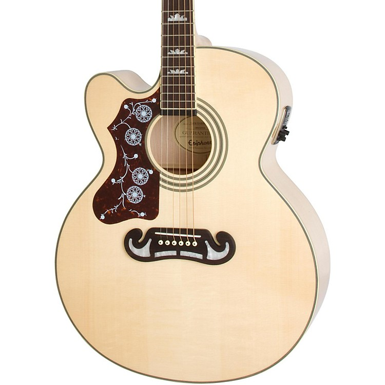 Epiphone Limited Edition EJ-200SCE Left-Handed Acoustic-Electric Guitar Natural
