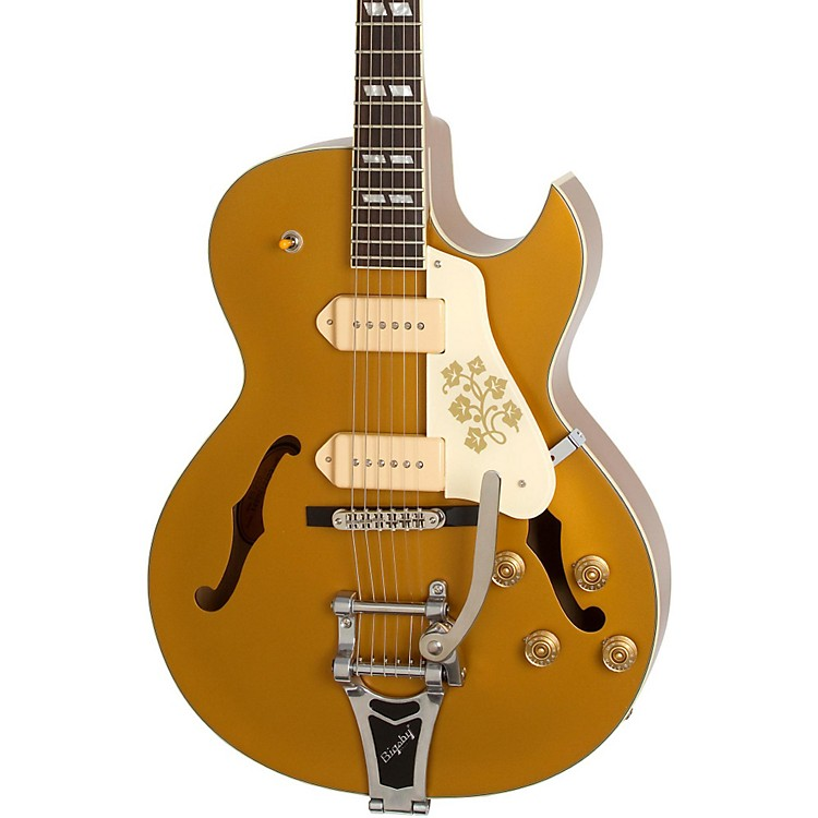 epiphone limited edition es 295 hollow body electric guitar metallic gold music123. Black Bedroom Furniture Sets. Home Design Ideas