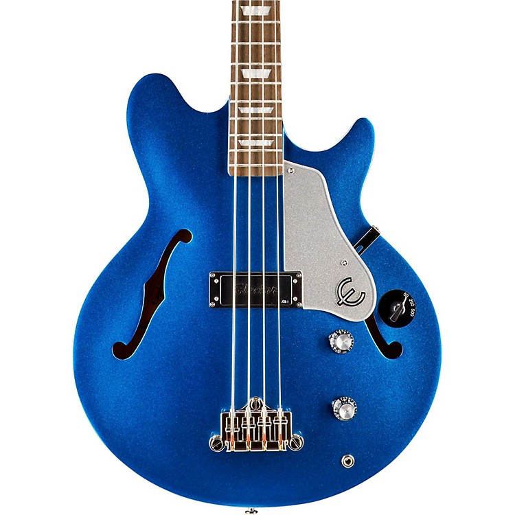 EpiphoneLimited Edition Jack Casady Blue Royale Bass GuitarChicago Pearl