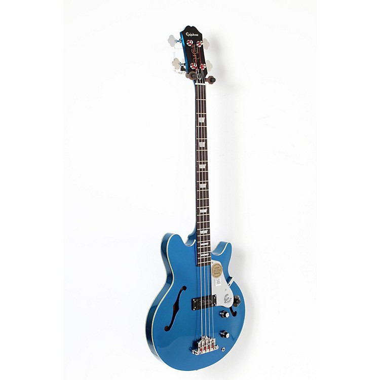 EpiphoneLimited Edition Jack Casady Blue Royale Bass GuitarChicago Pearl888365910918