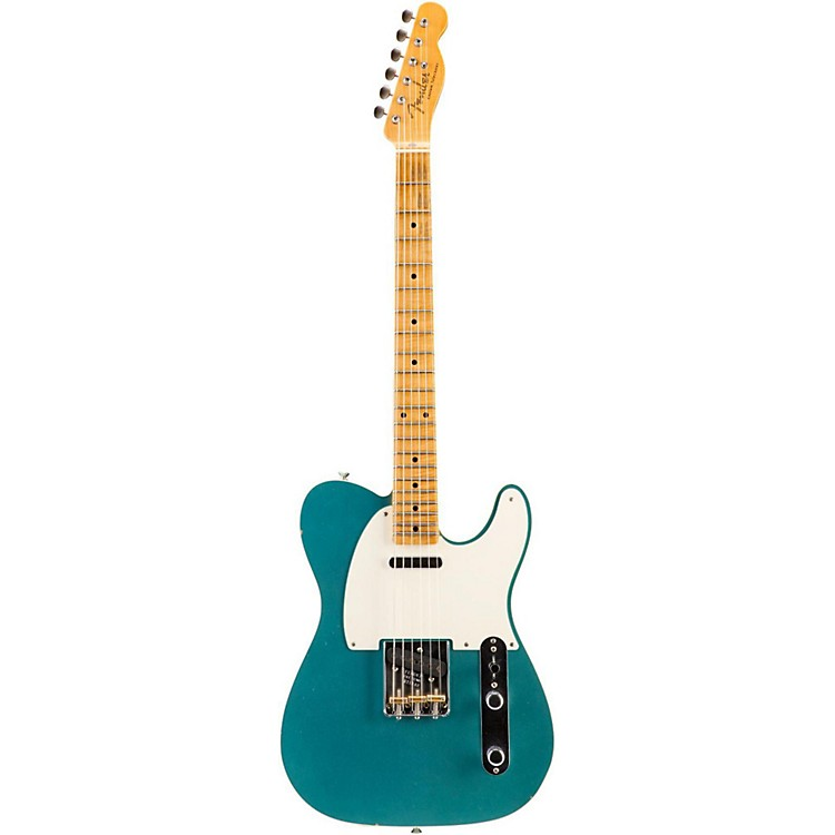 Fender Custom Shop Limited Edition NAMM 2016 Custom Built '50s Journeyman Relic Maple Fingerboard Telecaster Faded Teal Green Metallic