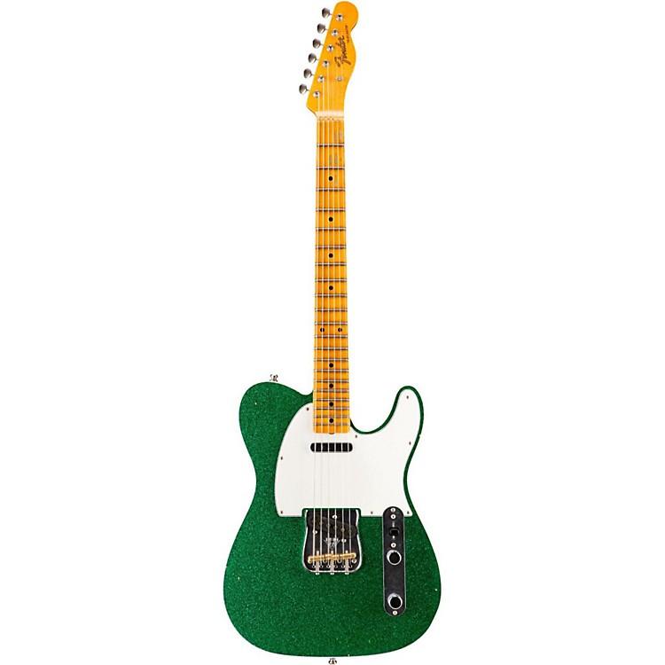 Fender Custom ShopLimited Edition NAMM 2016 Custom Built Postmodern Journeyman Relic Maple Fingerboard TelecasterSoda Green Sparkle