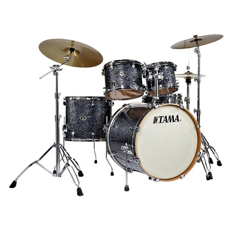 Tama Limited Edition Silverstar VX Accel-Driver 5-Piece Shell Pack Black Diamond Sparkle