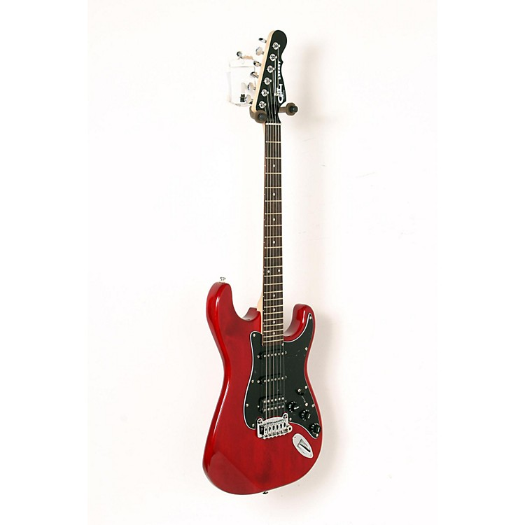 G&L Limited Edition Tribute Legacy HSS Painted Headcap Electric Guitar Transparent Red 888365916712