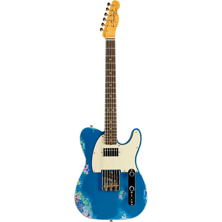 Fender Custom Shop Limited Edtion 60s H/S Relic Tele Aged Lake Placid Blue over Blue Flower