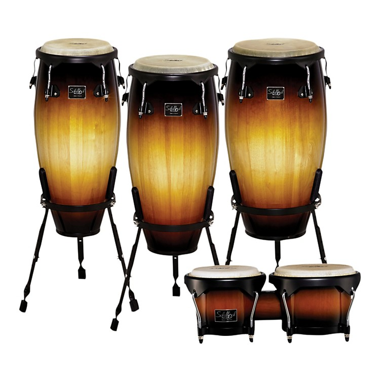 Schalloch Linea 100 Series 3-Piece Conga Set with Bongos Vintage Sunburst