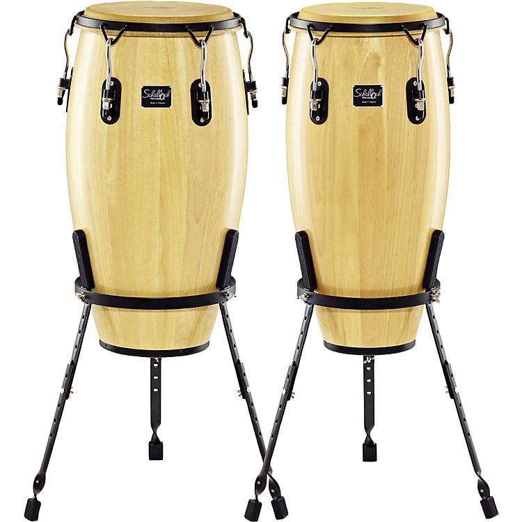 SchallochLinea 200 2-Piece Conga Set with Basket Stands