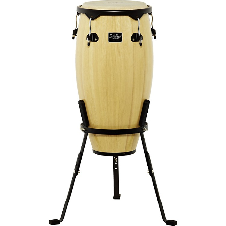 Schalloch Linea 50 Conga with Stand Black Hardware Natural 12 in. Tumba
