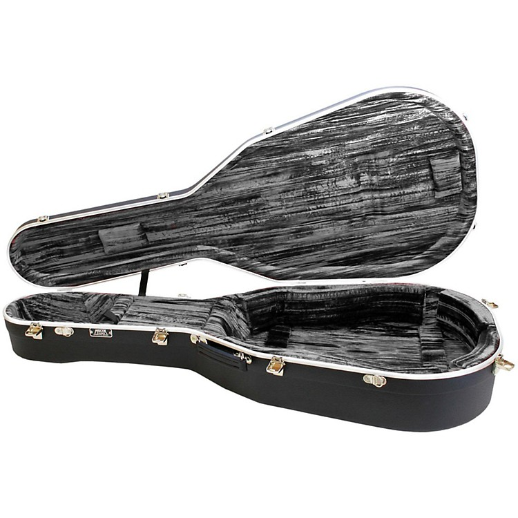 Hiscox CasesLiteflite Artist Acoustic Guitar Case - Black Shell/Silver Interior