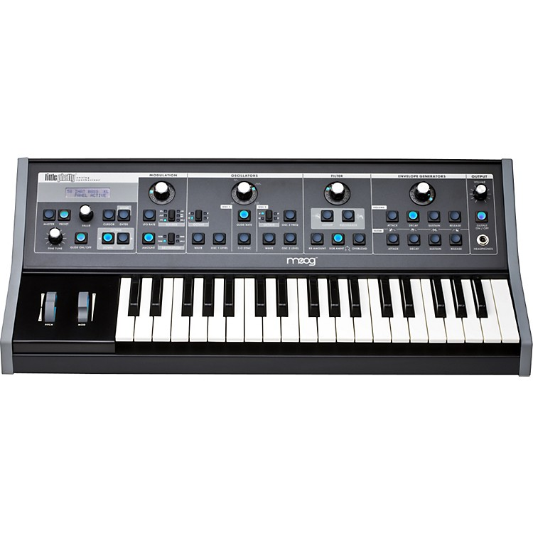 MoogLittle Phatty Stage II Keyboard Synthesizer with Blue LEDs
