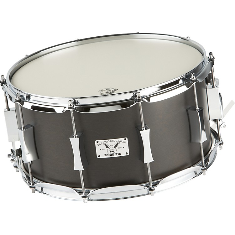 Pork Pie Little Squealer Birch / Mahogany Snare Drum 14 x 7 in. Black Satin