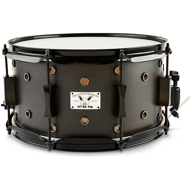 Pork Pie Little Squealer Snare Drum Satin Black Ebony 7 x 13 in.
