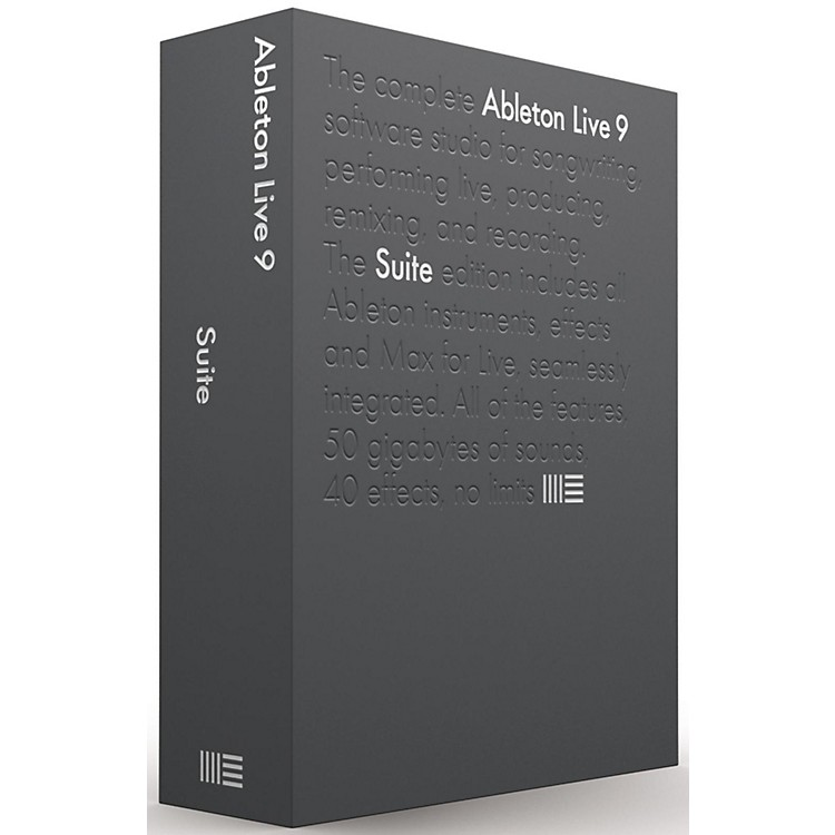 AbletonLive 9 Suite Upgrade from Intro