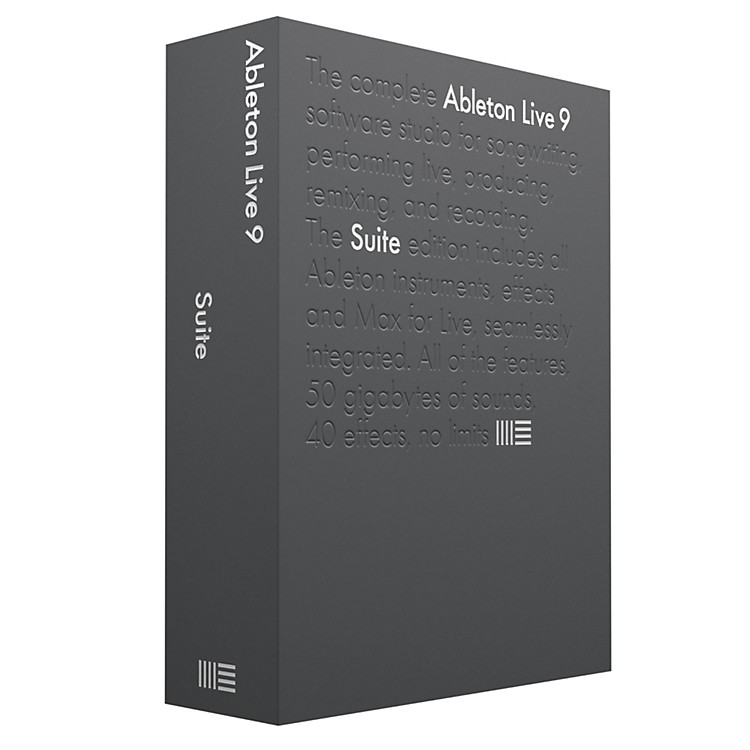 Ableton Live 9 Suite Upgrade  from Live 1-8 Standard Software Download