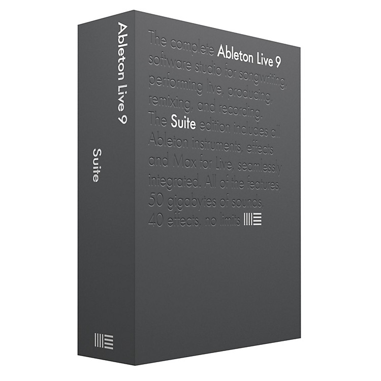 Ableton Live 9 Suite Upgrade from Live 7-8 Suite