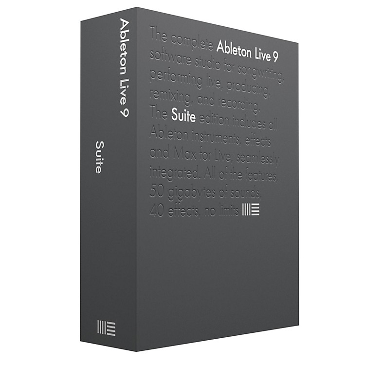 Ableton Live 9 Suite Upgrade from Live 9 Standard Software Download