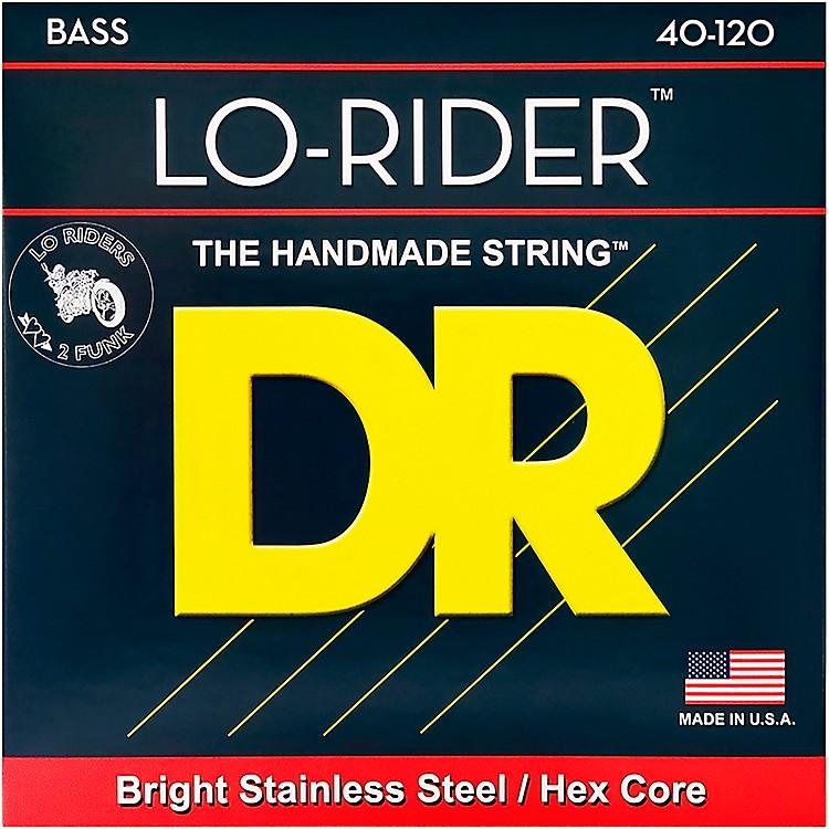 DR StringsLo Rider LH5-40 Light Stainless Steel 5-String Bass Strings