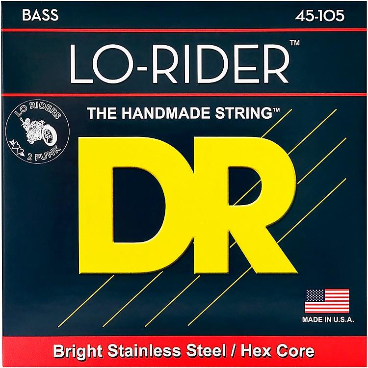 DR StringsLo-Rider MH-45 Stainless Steel Medium 4-String Bass Strings