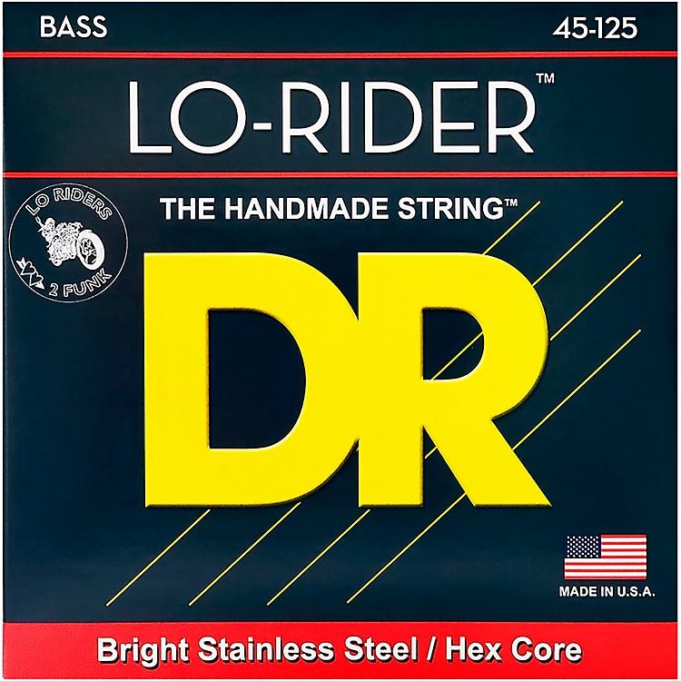 DR StringsLo Rider MH5-45 Medium Stainless Steel 5-String Bass Strings .125 Low B