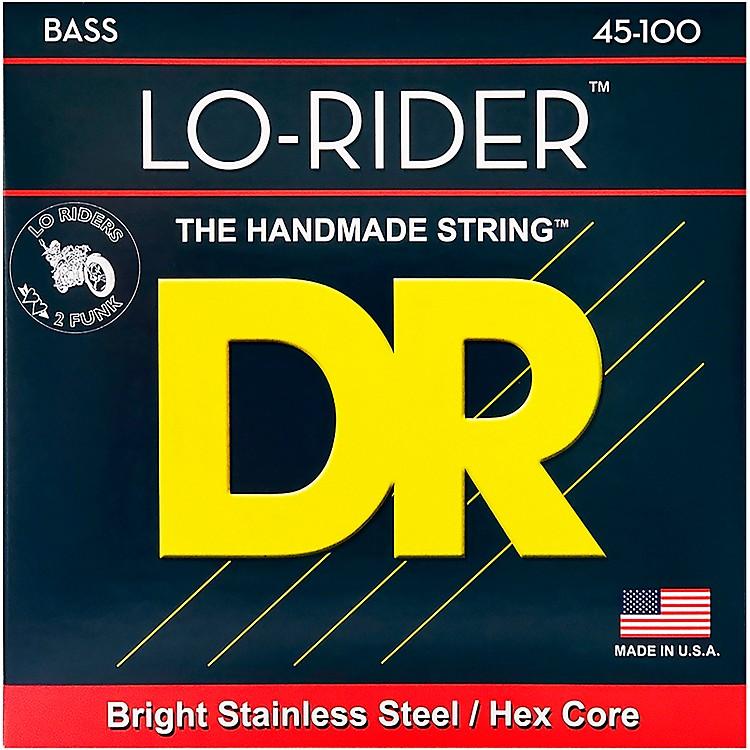 DR StringsLo Rider MLH-45 Medium Lite Stainless Steel 4-String Bass Strings