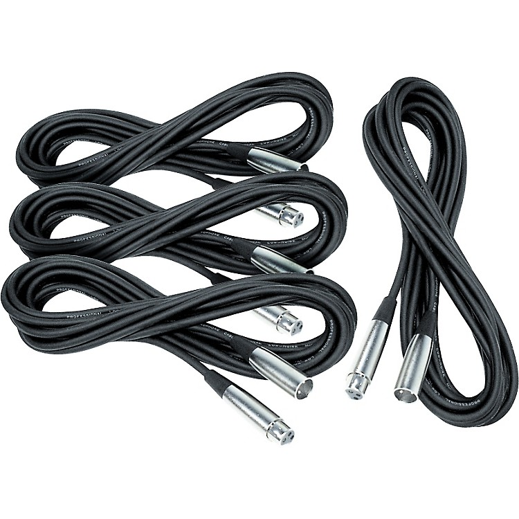 Musician's Gear Lo-Z Mic Cable 20' (4 Pack)
