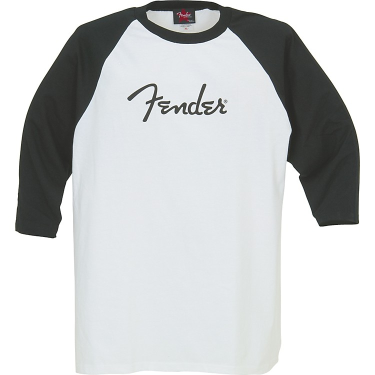 Fender Logo BaseBall Jersey White/Black Large