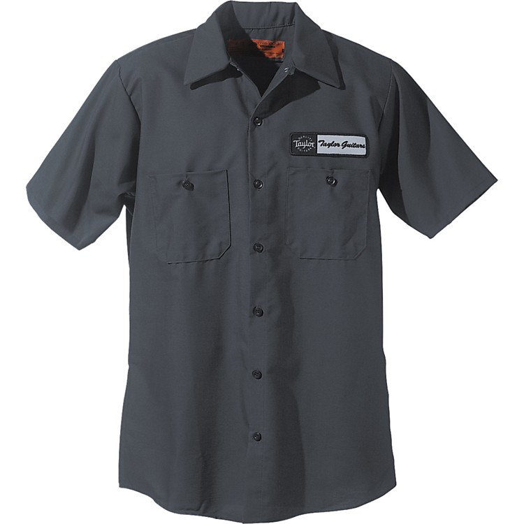 Taylor Logo Mechanic's Shirt Charcoal Extra Large