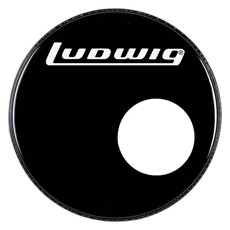 LudwigLogo Resonance Bass Drum Head with PortBlack22 Inch