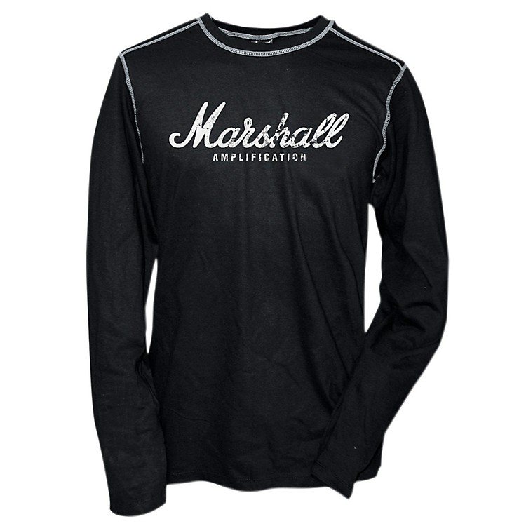 Marshall Logo Thermal Black with Grey Contrast Stitch Medium