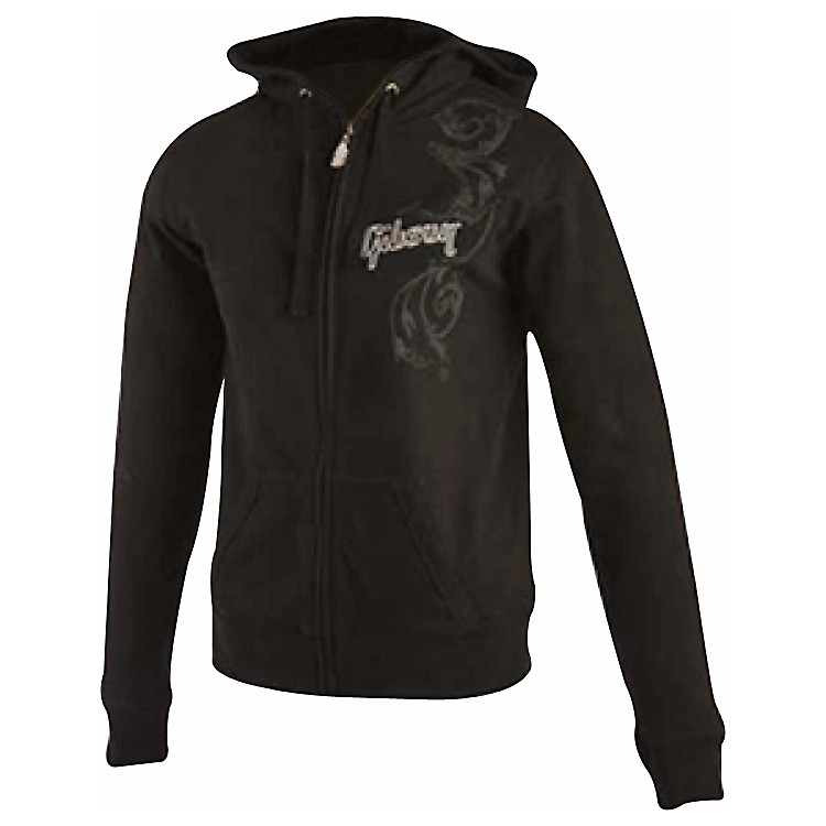 Gibson Logo Women's Zip-up Hoodie Black Medium