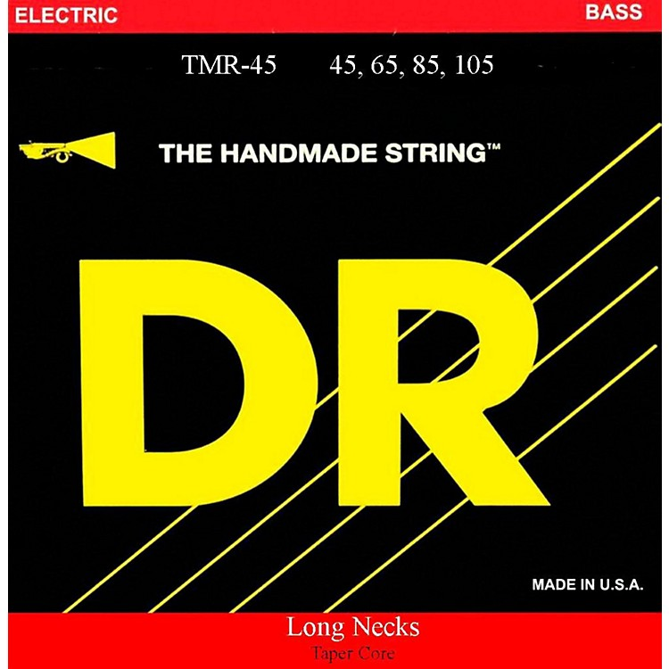 DR Strings Long Necks Taper Core Medium Light 4-String Bass Strings
