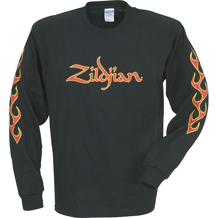 Zildjian Long-Sleeve Fire T-Shirt Black Extra Extra Large